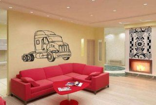 Truck 18 Wheeler Truck Stop Peterbilt 387 Wall Sticker D 386