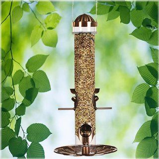 Birdscapes 385 Copper Wild Bird Feeder (Discontinued by Manufacturer)  Wild Bird Tube Feeders  Patio, Lawn & Garden