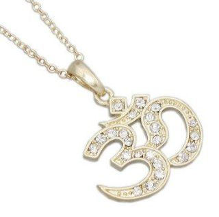 WIIPUgold om pendant letter yoga jewelry women necklace(wiipu B387) Jewelry