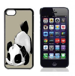 Panda Cute Bear Animal Hard Plastic and Aluminum Back Case For Apple iphone 5C With 3 Pieces Screen Protectors Cell Phones & Accessories
