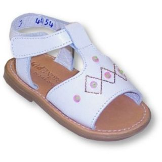 Kid Express Infant Girls White Leather Sandal With Beads And Sequins ~ Julie Tee SIZE 1 Shoes