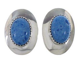 Denim Lapis Silver Native American Clip On Earrings PX31462 SilverTribe Jewelry