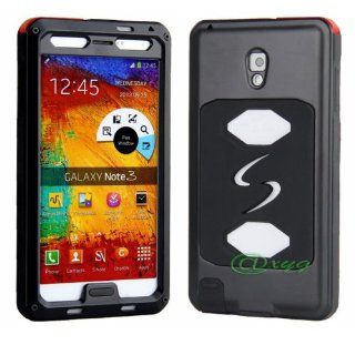 Newest Extreme Shockproof Waterproof Dust/Dirt/snow Proof Armor Tank Aluminum Metal Gorilla Glass Military Heavy Duty Protector Cover Hard case for Samsung Galaxy Note 3 III N9000 @XYG (1 black/black) Cell Phones & Accessories