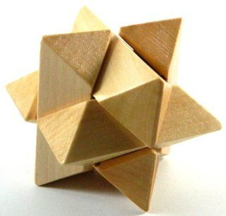 Solid Wood Super Star IQ Magic Cube Puzzle Educational Game Brain Teaser Puzzles Toys MY 1855   Disentanglement Puzzles