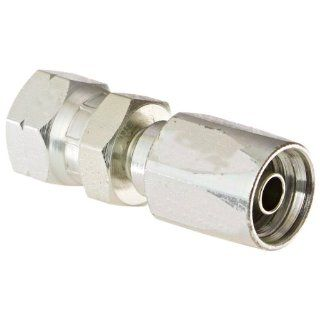 "EATON Weatherhead 21306N 406 Female Swivel Hose Fitting, SAE 37 Degree, AISI/SAE 12L14 Carbon Steel, 5/16"" Hose ID, 3/8"" Tube Size Hydraulic Hose Fittings"