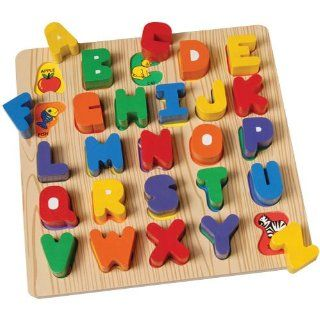 Chunky ABC Block Puzzles Toys & Games