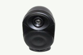 "One Piece 4"" All weather 2 way, Bookshelf/wall mount/corner mount Speaker 4 inch 2 Way 8 Ohm/70v Commercial Indoor/outdoor Speaker Black OS A402BK Electronics"