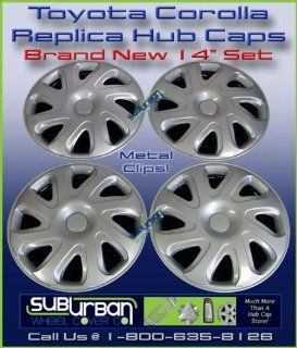 "404 Series Toyota Corolla 14"" Replica Hubcaps Wheel Covers New Set Automotive"