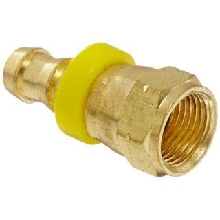 "Eaton Weatherhead 10006B 406 Flare Female Swivel Fitting, SAE 45 Degree, CA360 Brass, NULL, 3/8"" Tube Size"