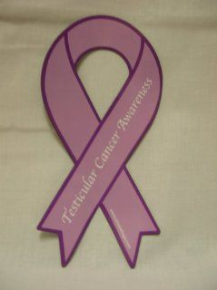 testicular cancer awareness ribbon car magnet  Other Products