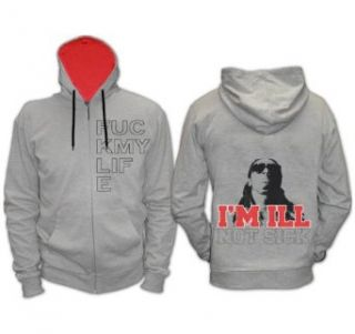 Lil Wayne Zip Up Hoodie , Hooded Sweatshirt, Grey , XXXL Clothing