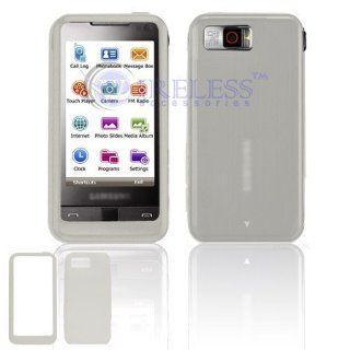 Clear Silicone Protective Skin Cover Case For Samsung Epix i907 Cell Phones & Accessories
