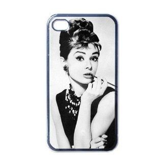 Audrey Hepburn Classic Hollywood Star Cool Unique Design iphone 4 4S Cases Cover Vol1 Cell Phones & Accessories