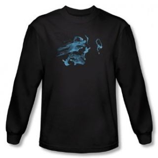 Fringe   Mens Face Glyph Long Sleeve Shirt In Black Clothing