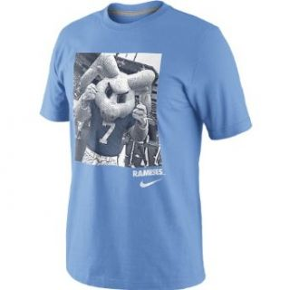 NIKE Men's North Carolina Tar Heels Mascot Photo Short Sleeve T Shirt   Size Medium, Lt.blue Clothing