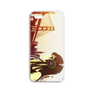 Design Apple Iphone 5C Anime Series girl with headphones anime White Case of Hard Cellphone Shell For Girls Cell Phones & Accessories