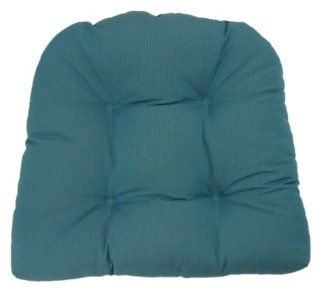 American Mills 45336.421 Indoor/Outdoor Sunbrella Chair Cushion, Solid Blue   Throw Pillows