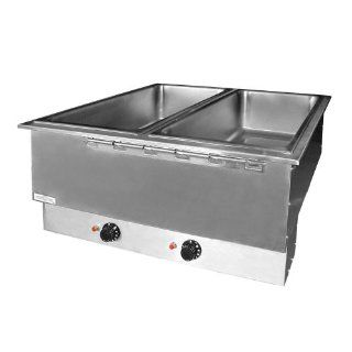 208 Volts APW Wyott HFWAT 5 Insulated Five Pan Drop In Hot Food Well with Attached Controls and Plug  Outdoor Kitchen Food Warmers  Patio, Lawn & Garden