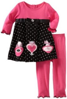 Good Lad Baby Girls Infant Dress With Legging Set, Black, 24 Months Clothing