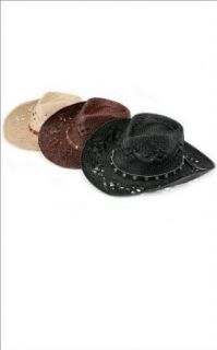 Stud Cowgirl Hat by Baby Phat (Brown / One Size) Clothing