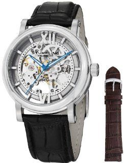 Stuhrling Original Men's 426AL.SET.01 Winchester XT Automatic Skeleton Leather Band Watch with Additional Strap Watches