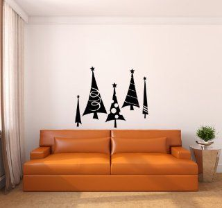 Christmas Trees Vinyl Wall Decal Sticker Graphic Mural By LKS Trading Post   Wall Decor Stickers