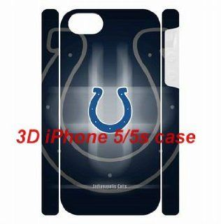 XMAS Gift NFL theme iPhone 5/5s back plastic 3D Dual Protective Cases Indianapolis Colts logo for fans by hiphonecases Cell Phones & Accessories