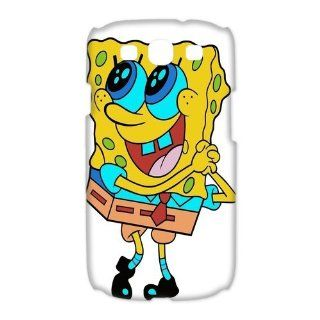Custom Spongebob 3D Cover Case for Samsung Galaxy S3 III i9300 LSM 3277 Cell Phones & Accessories