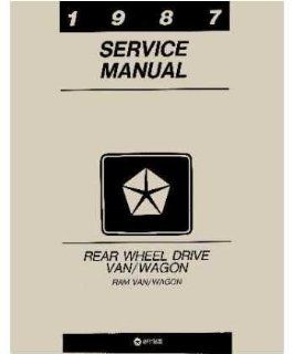 1987 Dodge Ram Van Shop Service Repair Manual Book Engine Drivetrain Wiring OEM Automotive