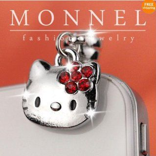 Ip429 Cute Hello Kitty Anti Dust Plug Cover Charm for Iphone Android 3.5mm Cell Phones & Accessories