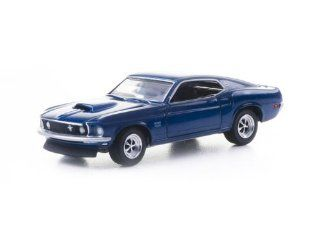 1969 Ford Mustang BOSS 429 1/64 Blue Toys & Games