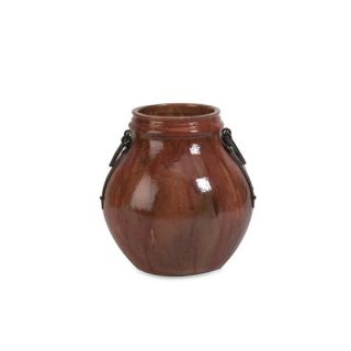 Elnora Short Vase with Metal Handle