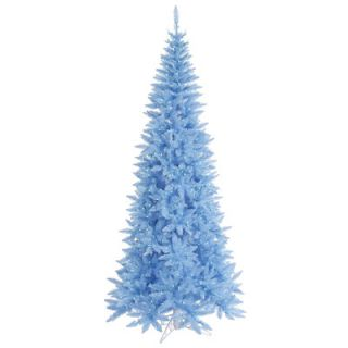 Vickerman 5.5 Sky Blue Slim Fir Artificial Christmas Tree with 300
