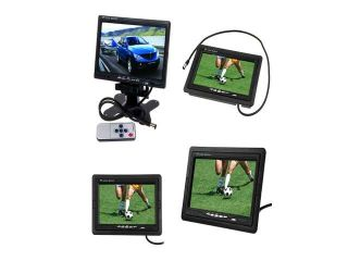 "2013 7"" TFT LCD Color Car Rear view Monitor For DVD VCR Camera+Remote Control"