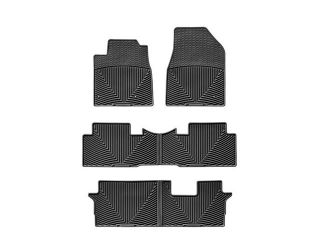 WeatherTech WTHB148152153 2009 2012 Honda Pilot Black All Weather Floor Mats All Rows