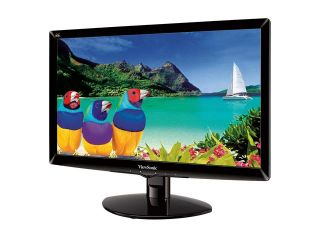 "ViewSonic VA2446M LED Black 24"" 5ms Widescreen LED Backlight LCD Monitor 300 cd/m2 10,000,000:1 Built in Speakers"