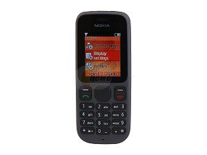 "Nokia 100 Black Unlocked GSM Bar Phone w/ Flashlight / 1.8"" Display"