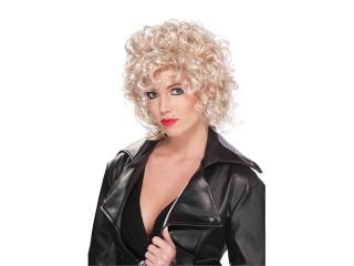 80's Tough Girl Adult Female Curly Blonde Costume Wig