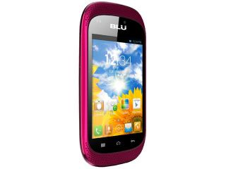 Blu Dash Music D172A Pink 3G 1.0GHz Unlocked GSM Dual SIM Android Cell Phone