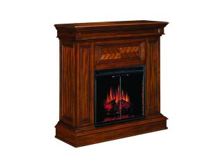 "ClassicFlame Corinth 42"" Wide Wall or Corner Electric Fireplace and TV Stand (Walnut) 23DM537 W502"