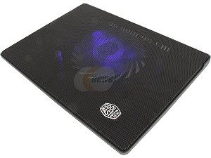 Cooler Master NotePal i300   Laptop Cooling Pad with 160 mm Blue LED Fan and Metal Mesh Surface
