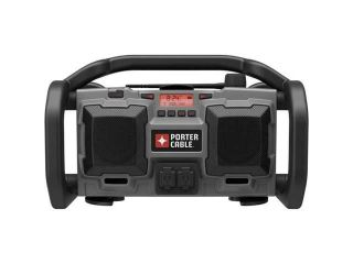 PORTER CABLE PC18JR 18 Volt Cordless / 120 Volt Corded Jobsite Radio