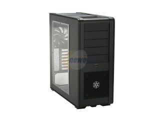 SilverStone Fortress Series FT01 BW Black Aluminum ATX Mid Tower Uni body Computer Case