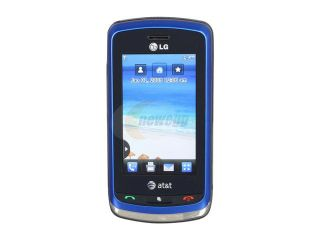 LG Xenon Blue 3G Unlocked GSM Slider Phone w/ Full QWERTY Keyboard / 2 MP Camera / A GPS (GR500)
