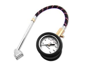 Neiko Heavy Duty Tire Gauge with Large Dial, Flex Hose, 10   160 PSI
