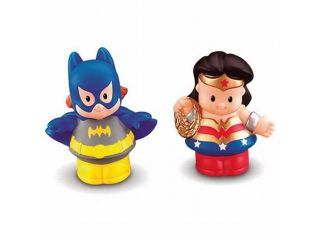 Fisher Price Little People DC Super Friends Wonder Woman & Batgirl Bat Girl