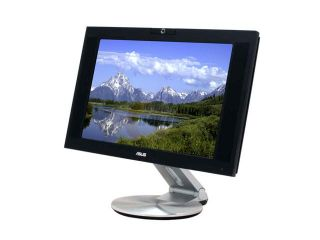 "ASUS PW201 Black Silver 20"" 8ms DVI Widescreen Glossy Anti Glare LCD Monitor with Pivot and Swivel Adjustments 350 cd/m2 800:1 Built in Speakers"