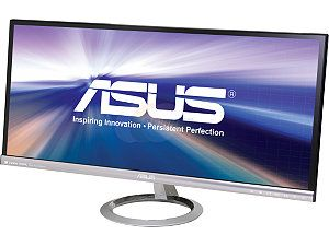 "ASUS Designo Series MX299Q 29"" 5ms (GTG) HDMI Widescreen LED Backlight Cinematic LCD Monitor AH IPS 300 cd/m2 80,000,000:1 Built in Speakers"