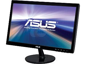 "ASUS VS207D P Black 19.5"" 5ms Widescreen LED Backlight LCD Monitor 250 cd/m2 80,000,000:1"