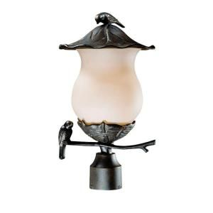 Acclaim Lighting Avian Collection 2 Light Outdoor Black Gold Post Light Fixture 7567BG/CH